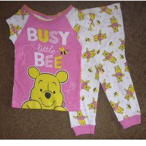 Winnie the Pooh BUSY LITTLE BEE Pajamas 12mo NWT
